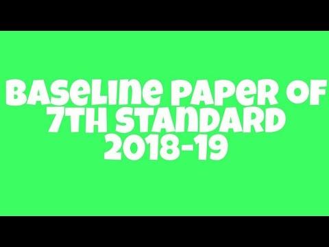 7th Standard Science Baseline Paper 2018-19