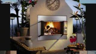 Outdoor Fireplace Slideshow - Diy Build Your Own With Steel Studs/cement Board
