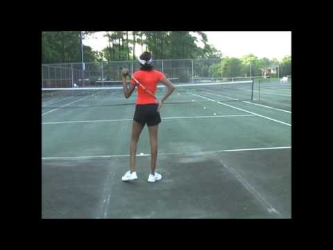 Shania Lane Tennis hitting
