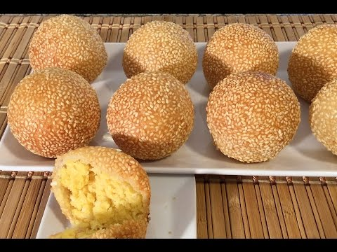 How To Make Banh Cam-Sweet Sesame Balls-Vietnamese Food Recipes