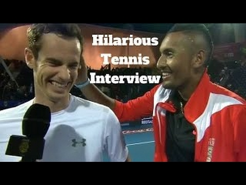 HD Funny And Hilarious Tennis Interview (Djokovic,Nadal,Federer,Ivanovic,Murray,Monf