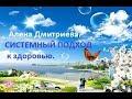 Системный подход к здоровью. Алена Дмитриева