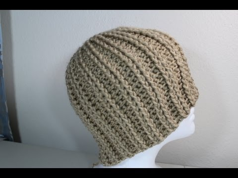How to Crochet rib stitch hat crochet tutorial