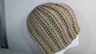 How to Crochet rib hat (step by step video) - Yolanda Soto Lopez