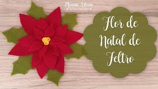 Flor de Natal de Feltro – Enfeites de Natal