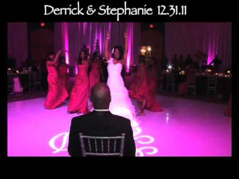 Bride Surprises Groom With Love On Top Dance At Wedding Reception