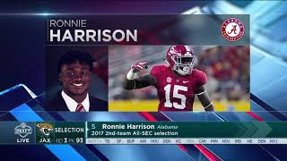 Jaguars select Alabama safety Ronnie Harrison No  93 in the 2018 NFL Draft | Apr 28, 2018