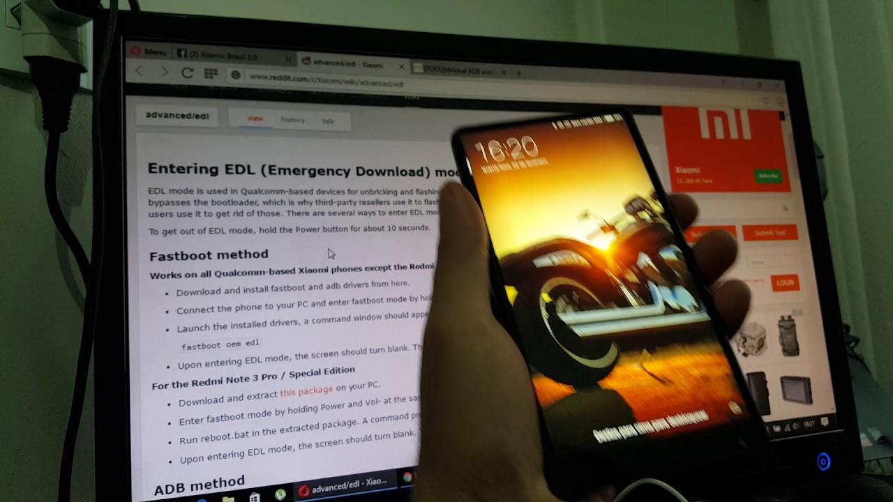 [Xiaomi Mi Mix] Tentando ativar o modo EDL com o Minimal ADB and Fastboot