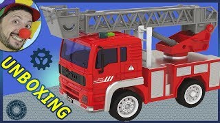 Funny Clown Bob | Construction Emergency Vehicles Fire Truck Unboxing Fish for kids | Video for kids