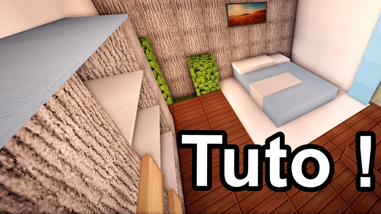 minecraft tuto comment faire des chambres moderne. Black Bedroom Furniture Sets. Home Design Ideas