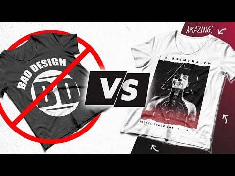 How to DESIGN A LOGO for your CLOTHING LINE | Photoshop Tutorial.
