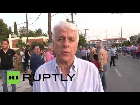 Greece: Protesters rally against Thessaloniki refugee camps