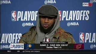 LeBron postgame press conference after scoring 46 points in Cavs win   2018 NBA Playoffs