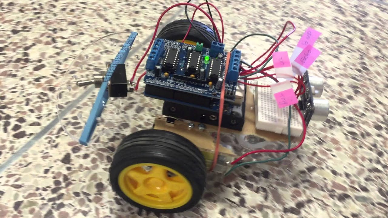 Smart robot car obstacle avoidance with arduino motor