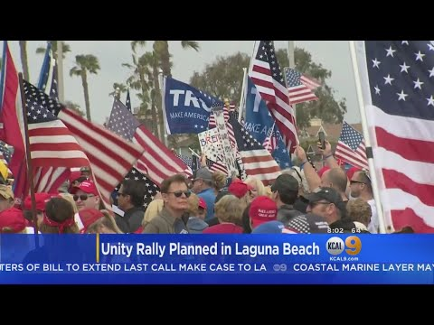 Laguna Beach Groups Hold Unity Rally Ahead Of Anti-Immigration Protest