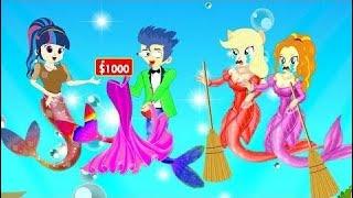 Popular Kids Cartoon with Equestria Girls Transform Mermaid Splendid Dress and Secret in Shop