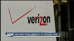 Mayors push verizon to expand fios