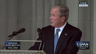 Former President George W. Bush tribute to Senator John McCain -- FULL VIDEO (C-SPAN)