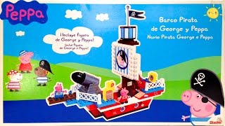 Peppa Pig Pirate Ship Blocks Peppa Pig Construction Toys Peppa Y George Barco Pirata Nickelodeon