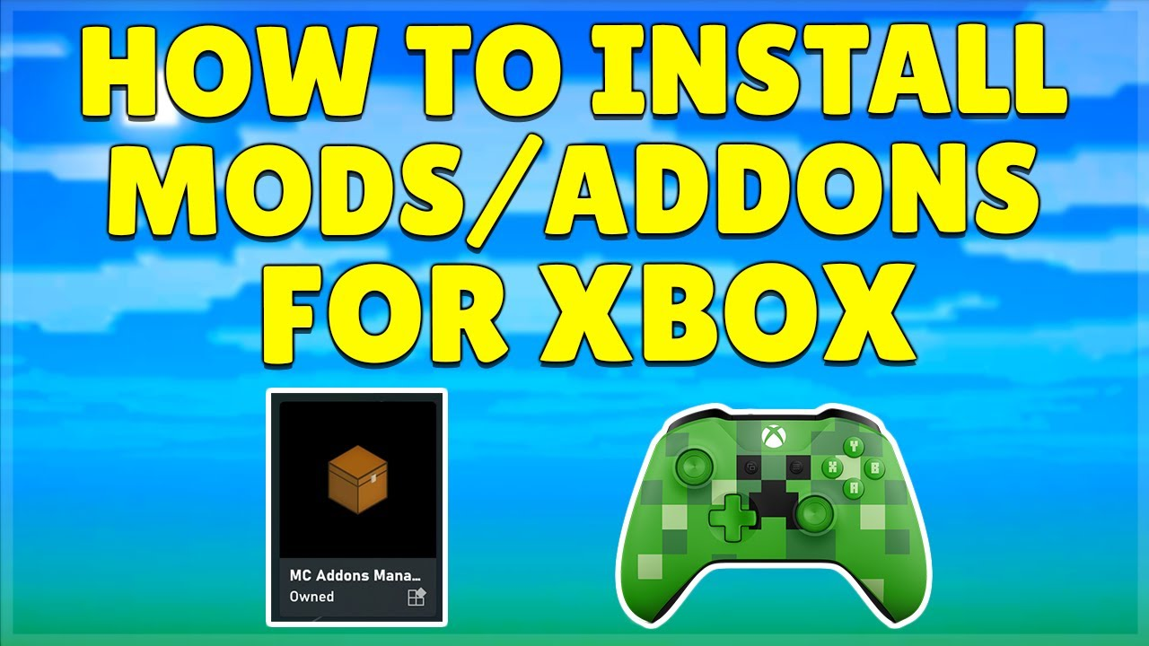 How To Get Any FREE MODS/ADDONS On Minecraft Xbox Bedrock Edition