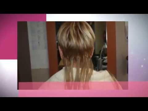 Extensiones de grapa en pelo corto