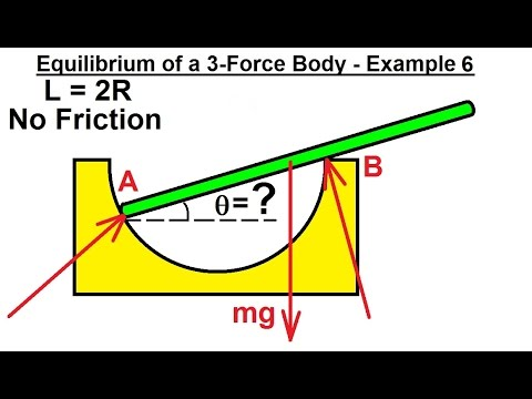 Mechanical Engineering: Equilibrium of Rigid Bodies (22 of 32) Ex. 6 Eq. of 3-Force Body