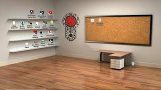 classroom desktop windows 3d clock