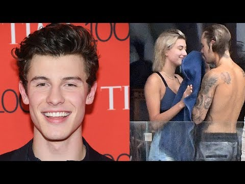 Shawn Mendes REACTS To Justin Bieber DATING Hailey Baldwin!