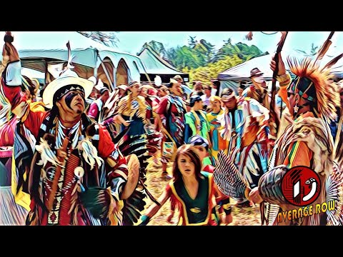 Traditional First Nations Pow Wow Drum Music, Ceremony, and Full Regalia