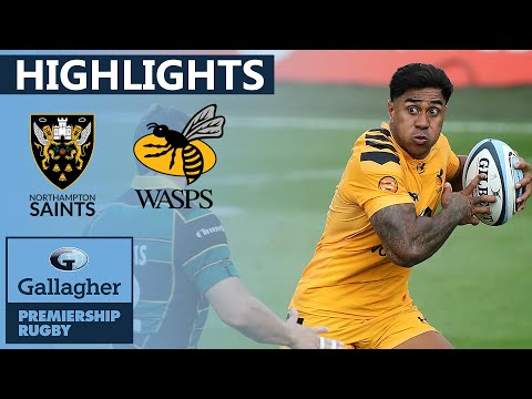Northampton V Wasps - HIGHLIGHTS | Bonus Point Earned In Dominant Victory | Gallagher Premiership