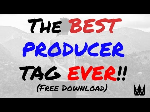 The Best Producer Tag Ever (Free DL) - Why Didn't You Pay For This Beat Tho?