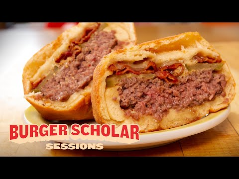 How to Cook a Deep-Fried Bacon Burger with George Motz | Burger Scholar Sessions