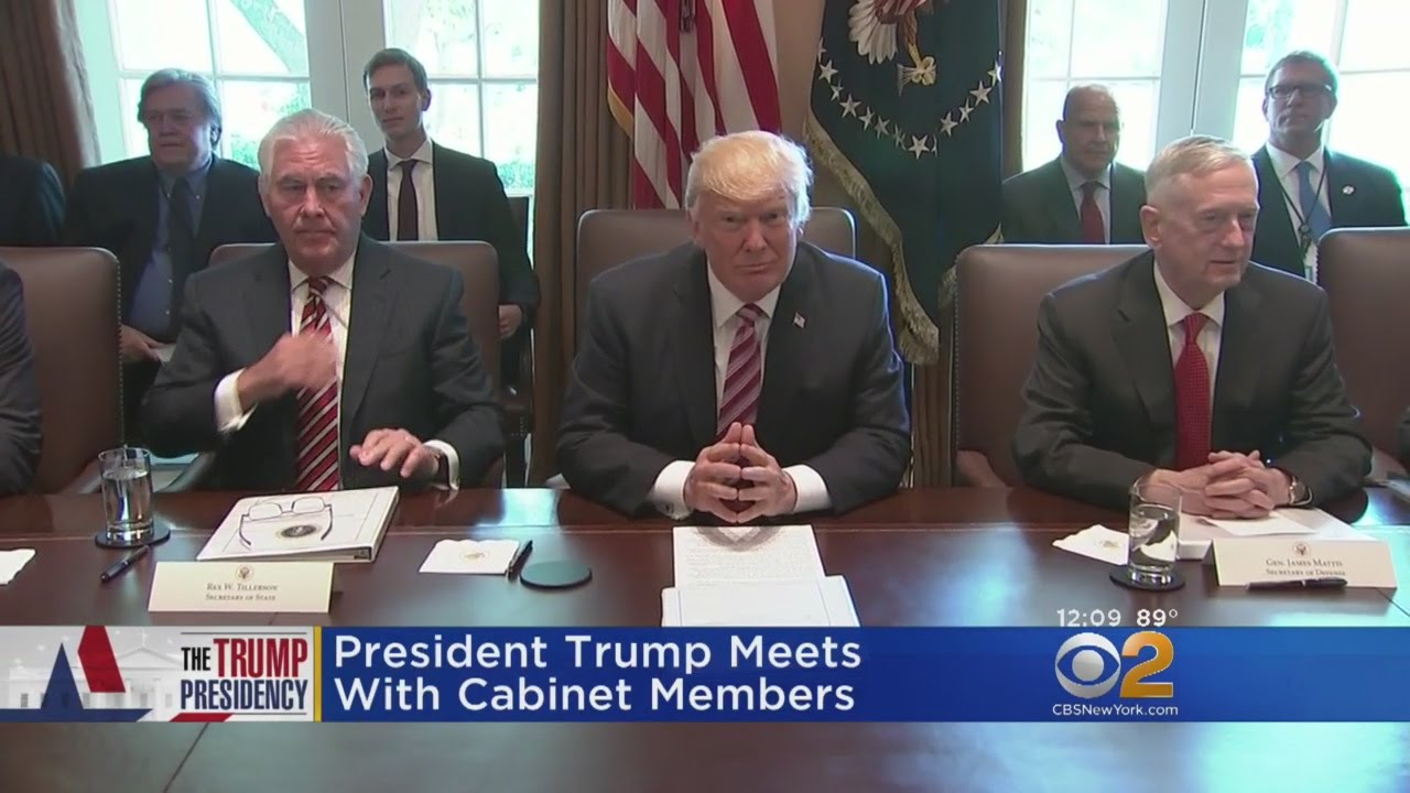 Trump's Cabinet Holds Second Meeting - YouTube