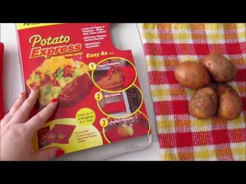 Рецепт Пакет для запекания картофеля в микроволновке. Отзыв и видео-рецепт.