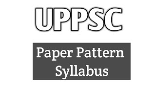 UPPSC upper subordinate/ Plan, Pattern and Syllabus of the exam(Preliminary) #knight.IAS