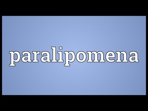 Header of paralipomena