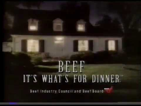Beef: It's What's For Dinner commercial (1993)
