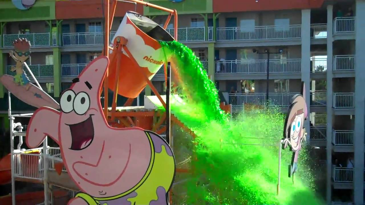 slime time at the nickelodeon hotel orlando florida - youtube