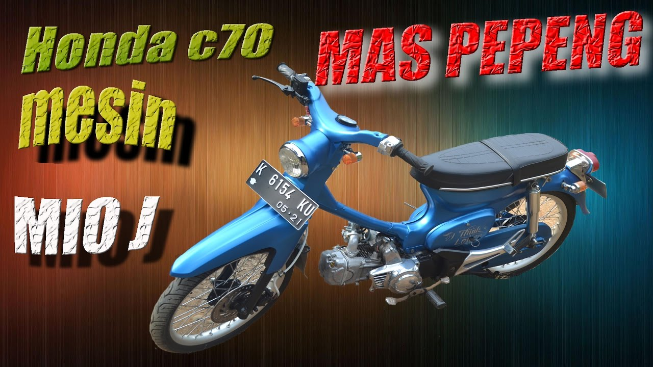 Modifikasi Honda C70 Mesin Yamaha Mio J Racing (Super Cub