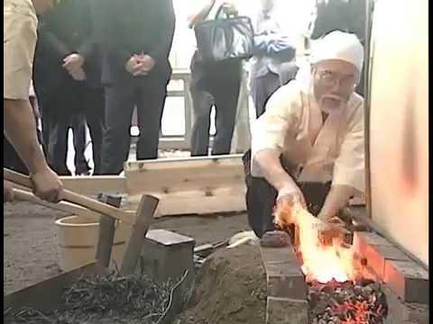 Forger un katana - Forging a Katana - 日本刀奉納鍛錬