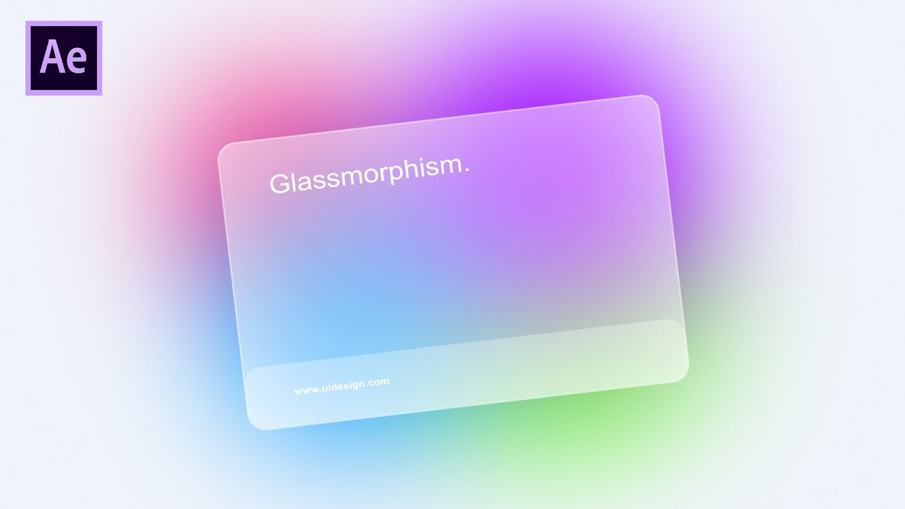 Glassmorphism Effect in After Effects - After Effects Tutorial