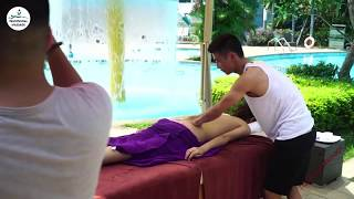 Lomi lomi Back Body massage techniques | Asmr massage for relaxing and lower back pain thumbnail