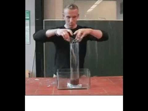 Реакция пероксида с йодидом калия - YouTube