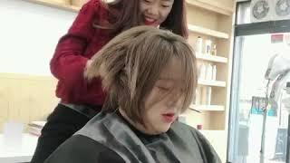 남자친구 송혜교 보브단발컷 시술영상