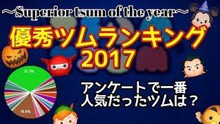【ツムツム】アンケートによる2017年優秀ツムランキングを発表!【良ツムオブザイヤー】