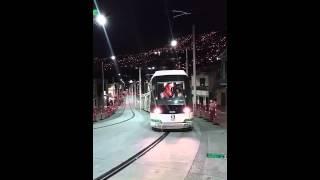 Tranvía de Ayacucho: primeras pruebas nocturnas