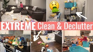 *NEW* EXTREME DISASTER CLEAN & DECLUTTER   ALL DAY CLEANING MOTIVATION   CLOSET PURGE
