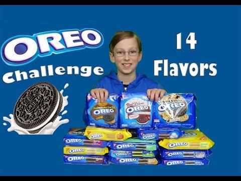 Oreo Challenge Taste Test - 14 Different Oreo Cookie Flavors!!