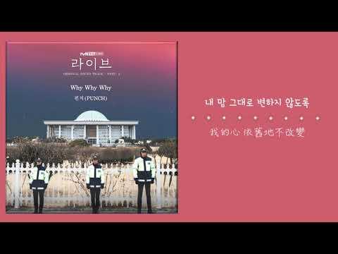 【韓繁中字】Punch (펀치) - Why Why Why (Live OST Part.4) ( 라이브 OST Part.4 )