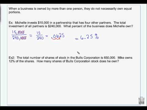 Financial Algebra   Chapter 1   Sections 1 And 2   Business Organization And Stocks